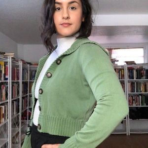 Mossimo Supply Co. Sweaters - Mossimo Green Knit Cardigan - B42